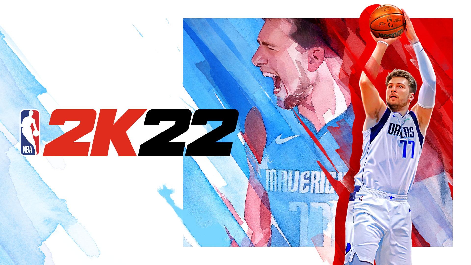 NBA 2K22 Luka Doncic cover